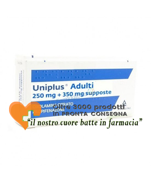 Uniplus Adulti 250mg+350mg Propifenazone 10 Supposte