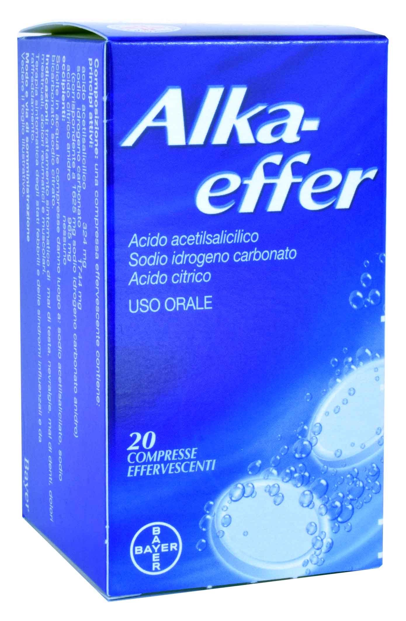 Alkaeffer Compresse Effervescenti Acido Acetilsalicilico 20 Compresse