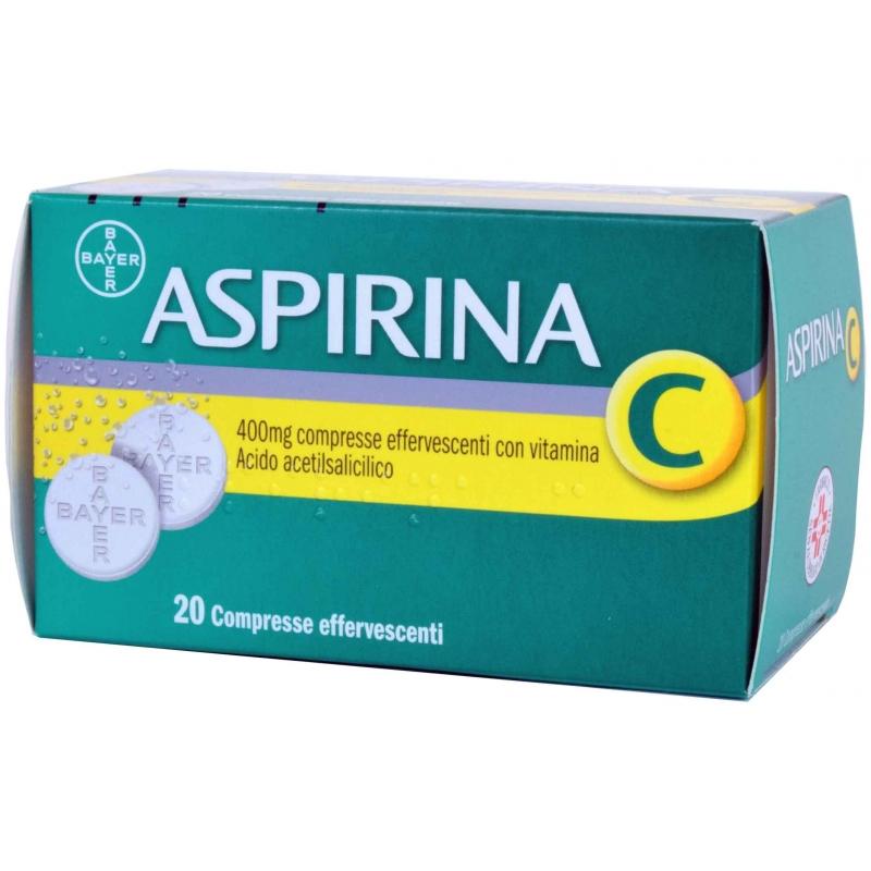 Aspirina C 400mg + 240mg Acido Acetilsalicilico 20 Compresse Effervescenti