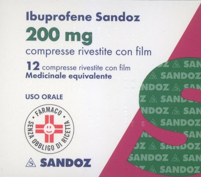 Ibuprofene Sandoz 200 mg Antidolorifico 24 Compresse Rivestite