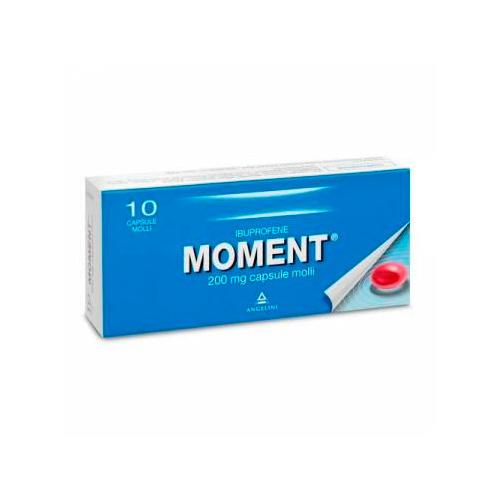 Moment 200 mg Ibuprofene 10 Capsule Molli