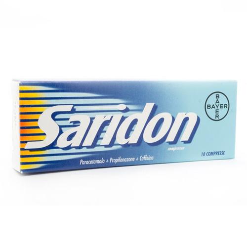 Saridon Compresse Paracetamolo / Propifenazone Antipiretico 10 Compresse