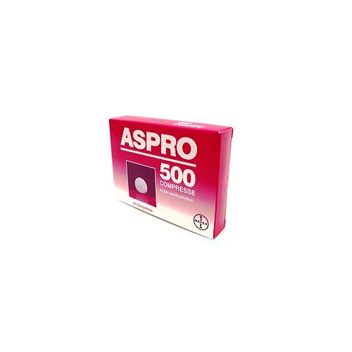 Aspro 500 mg Acido Acetilsalicilico Analgesico 20 Compresse