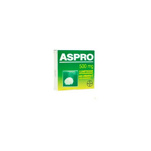 Aspro 500 mg Acido Acetilsalicilico Vitamina C Analgesico 12 Compresse Effervescenti