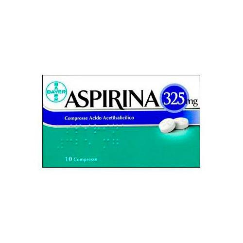 Aspirina 325 mg Acido Acetilsalicilico 10 Compresse