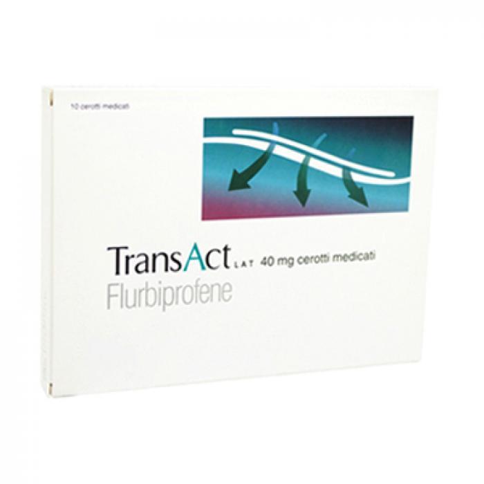 Transact Lat 40 mg Flurbiprofene Dolori Articolari 10 Cerotti Medicati