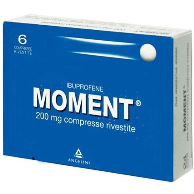 Moment 200 mg Ibuprofene 6 Compresse Rivestite