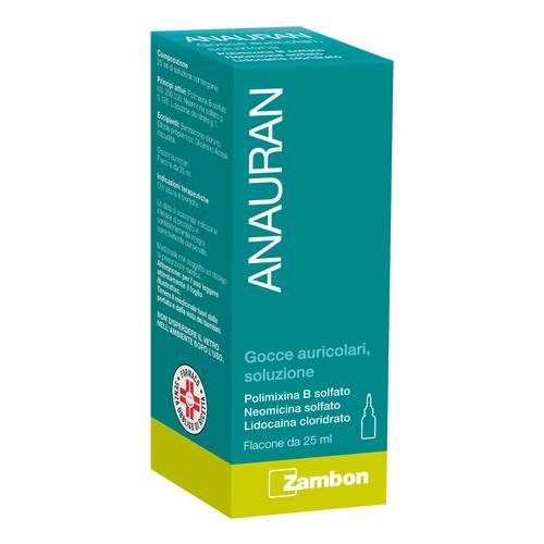 Anauran Gocce Auricolari Polimixina B solfato Otiti Flacone 25 ml
