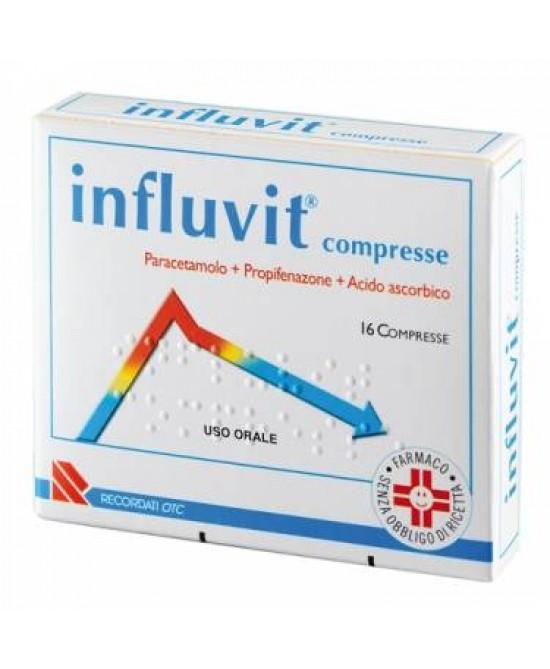 Influvit Paracetamolo 150+300+150 mg 16 Compresse