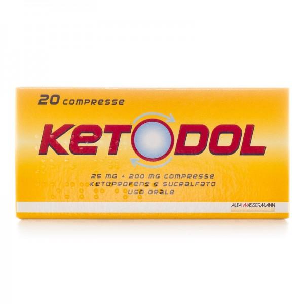 Ketodol 25mg + 200mg Antinfiammatorio 20 Compresse