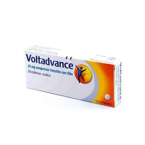 Voltadvance 25 mg Diclofenac Dolori Articolari 10 Compresse Rivestite