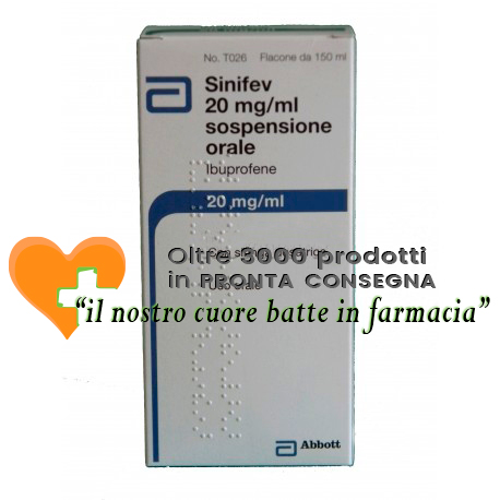 Sinifev 20 mg/ml Ibuprofene Sospensione Orale 150 ml
