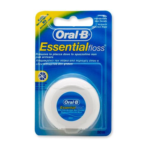 Oral-B Essentialfloss Filo Interdentale Non Cerato 50 metri