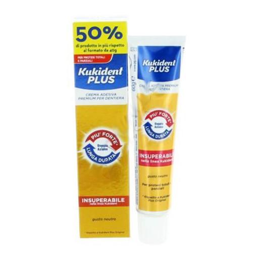 Kukident Plus Doppia Azione Crema Adesiva Protesi Dentali 60g