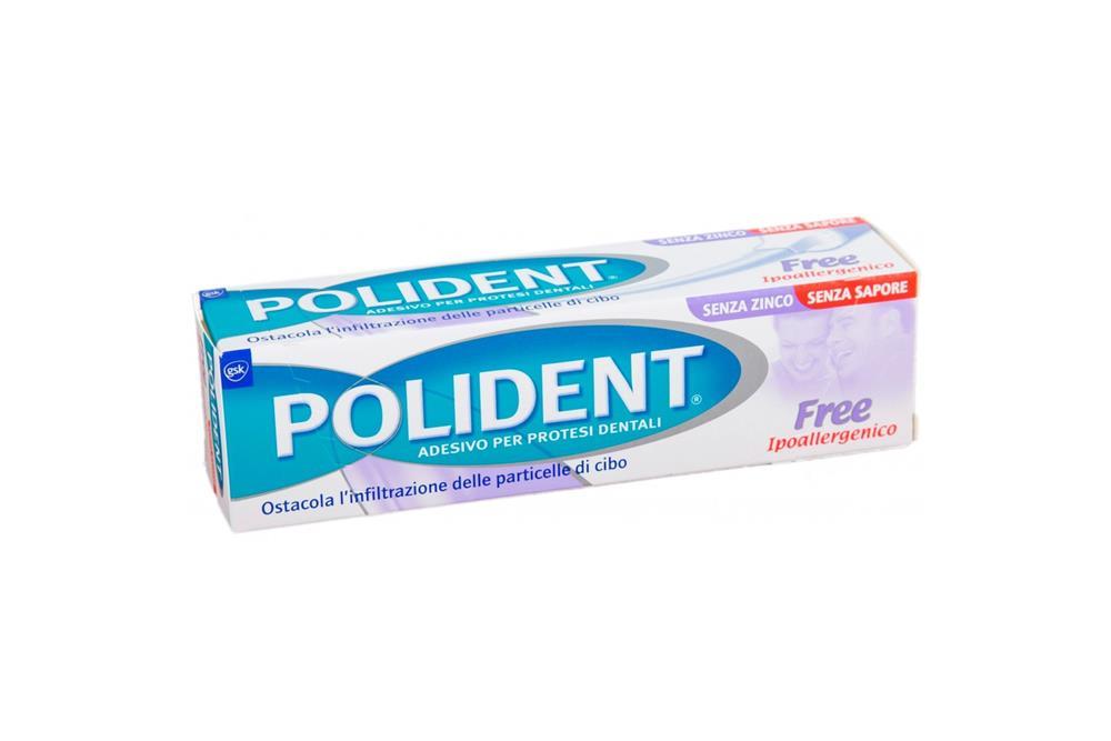 Polident Free Crema Adesiva per Dentiere Ipoallergenica 40g