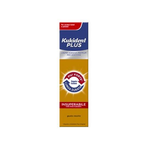Kukident Plus Doppia Azione Crema Adesiva Protesi Dentali 40g