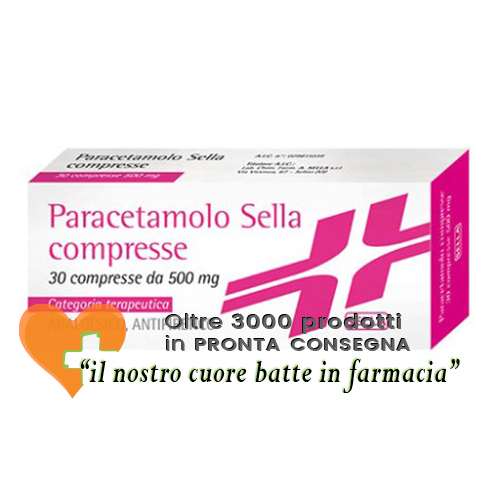 Paracetamolo Sella 500 mg Analgesico Antipiretico 30 Compresse